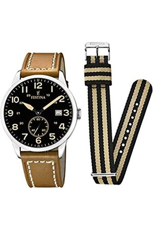 Festina Festina Herren Analog Quarz Uhr mit Leder Armband F20347/6