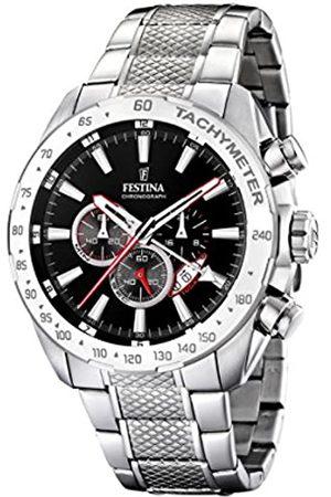 Festina Festina Herren Chronograph Quarz Uhr mit Edelstahl Armband F16488/5