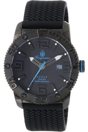 Burgmeister Burgmeister Armbanduhr für Herren mit Analog Anzeige, Quarz-Uhr und Silikonarmband - wasserdichte Herrenuhr mit zeitlosem