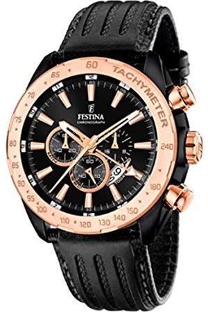 Festina Festina Herren Chronograph Quarz Uhr mit Leder Armband F16899/1