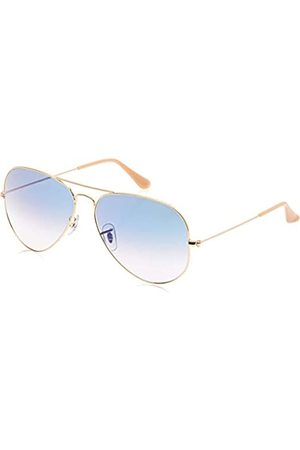 Ray-Ban Ray Ban Unisex 0Rb3025 Aviator Large Metal Aviator Sonnenbrille, Blau (Gestell: Gold