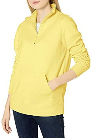 Amazon Damen Longsleeves - Long-sleeve Lightweight French Terry Fleece Quarter-zip Top fashion-sweatshirts