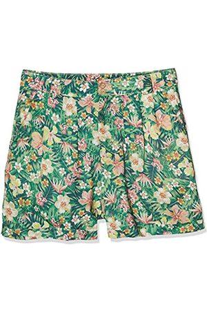 Queen Kerosin Queen Kerosin Damen Shorts Mit Tropischem Muster Aufschlag Shorts Tailliert Gemustert