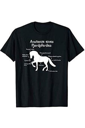 PferdeGrafiken Anatomie eines Fjordpferdes T-Shirt