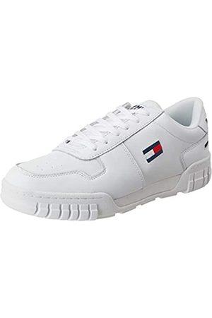 Tommy Hilfiger Tommy Jeans Herren Essential Retro Sneaker, Weiß (White Ybs)