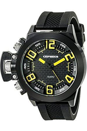 CEPHEUS CEPHEUS Herren-Armbanduhr XL Analog Quarz Silikon CP901-622C