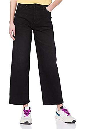 Lee Lee Damen Straight Leg Straight Jeans 5 POCKET WIDE LEG, Schwarz (Black Tyro Jw)