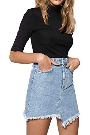 Ivyrevel IVYREVEL Damen Raw Edge Denim Skirt Rock