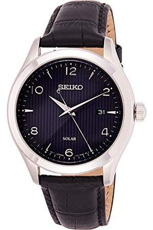 Seiko Seiko Herren Analog Solar Uhr mit Leder Armband SNE491P1