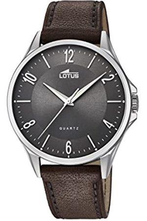 Lotus Lotus Herren Analoger Quarz Uhr mit Echtes Leder Armband 18518/2