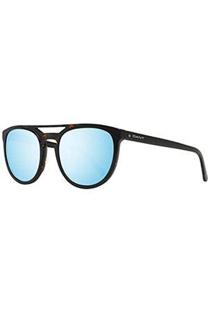 GANT GANT Herren GA7104 Sonnenbrille, Schwarz (Shiny Black/Blu Mirror)