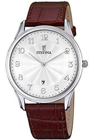 Festina Festina Herren Analog Quarz Uhr mit Leder Armband F6851/1