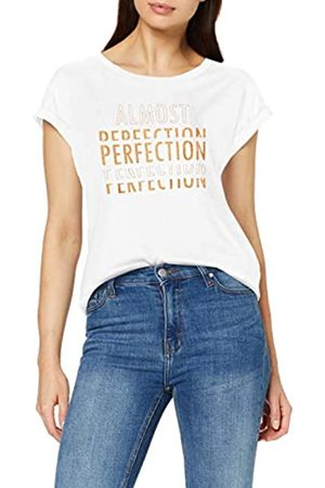 Cream Damen Shirts - Damen Sisie Tshirt T-Shirt, Elfenbein (Chalk/Copper Glitter Print 60034)