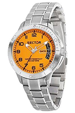 Sector No Limits SECTOR NO LIMITS Herren Analog Quarz Uhr mit Edelstahl Armband R3253578008