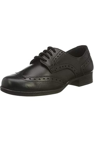 Term Term Mädchen Meghan Leather Brogues, Schwarz (Black 001)