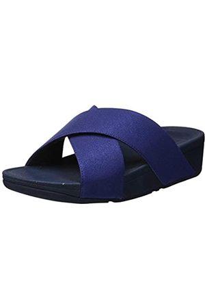 FitFlop Damen Luli Shimmerlux Slides Sandal, (Midnight Navy 399)