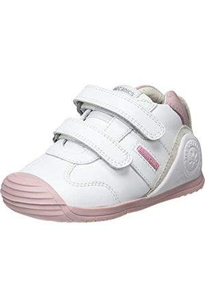 Biomecanics Biomecanics Baby Mädchen 151157-2 Hausschuhe, Weiß (Blanco Y Rosa (Sauvage) G)
