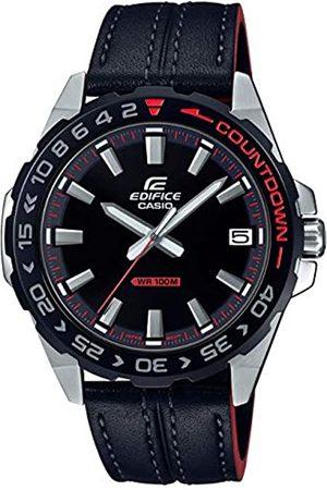 Casio CASIO Herren Analog Quarz Uhr mit Echtes Leder Armband EFV-120BL-1AVUEF