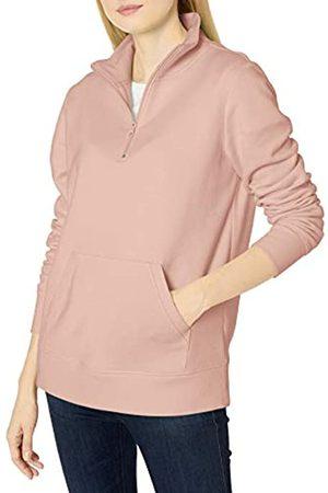 Amazon Long-sleeve Lightweight French Terry Fleece Quarter-zip Top fashion-sweatshirts, rose