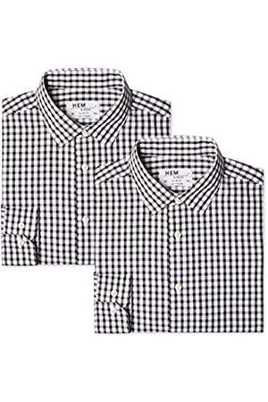 FIND Find. Herren Businesshemd 2 Pack Slim Shirt, 41 cm