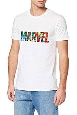 Marvel Marvel Herren Logo Character Infill, Weiß (White Wht) S-T-Shirt