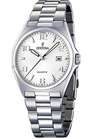 Festina Festina Herren Analog Quarz Uhr mit Edelstahl Armband F16374/5