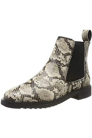 Clarks Damen Griffin Plaza Chelsea Boots, (Taupe Snake Taupe Snake)