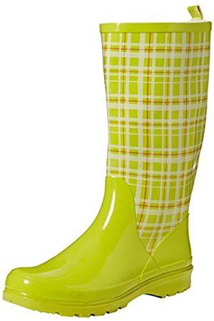 Playshoes Playshoes Damen Gummistiefel, trendiger Regenstiefel aus Naturkautschuk, mit herausnehmbarer Innensohle, mit Karo-Muster, Grün (Grün 29)