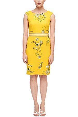 s.Oliver S.Oliver BLACK LABEL Damen Etuikleid mit floralem Muster yellow flower print 40