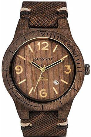 WeWood WEWOOD Herren Analog Quarz Smart Watch Armbanduhr mit Leder Armband WW08007