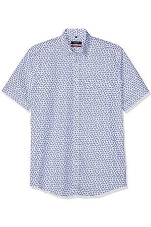 Seidensticker Seidensticker Herren Modern Kurzarm mit verdecktem Button-Down Kragen Soft floralem Druck Businesshemd