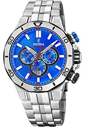 Festina Festina Unisex Erwachsene Chronograph Quarz Uhr mit Edelstahl Armband F20448/2