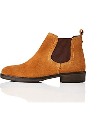 FIND Find. Casual Suede Chelsea Boots, Braun Tan)