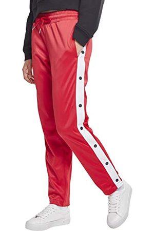 Urban classics Urban Classics Damen Ladies Button Up Track Pants Sporthose,, per pack Mehrfarbig (fire red/white/navy 01236)