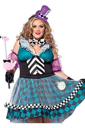 Leg Avenue LEG AVENUE 85227X - Manic Mad Hatter Kostüm Set, 4-teilig, Größe 44-46