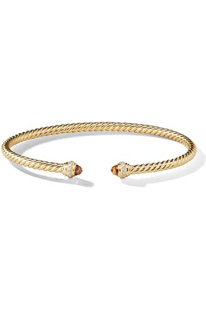 David Yurman Damen Armbänder - 18kt Gelbgoldarmspange mit Diamanten - 88AMCDI