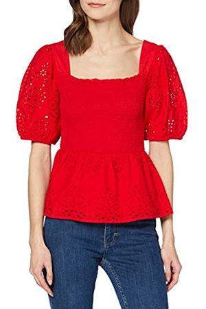 FIND Amazon-Marke: Damen Kurzärmelige Rüschen-Bluse 38