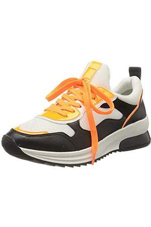 Tamaris Tamaris Damen 1-1-23728-24 Sneaker, Weiß (Wht/Blk/Orange 185)