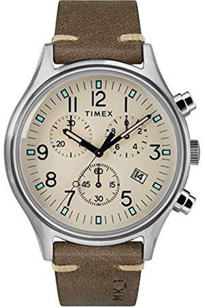 Timex Timex Herren Chronograph Quarz Uhr mit Leder Armband TW2R96400