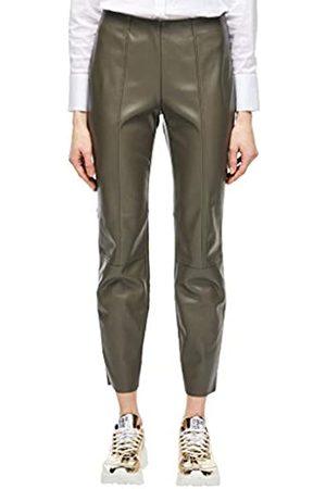 s.Oliver S.Oliver BLACK LABEL Damen Sofia Slim: Leggings im Leder-Look dark olive 32