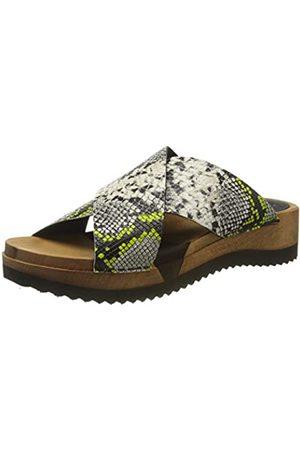 Sanita Sanita Damen Saskia Sport Flex Sandale Pantoletten, Mehrfarbig (Lime 41)