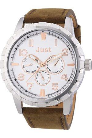 Just Watches Just Watches Herren-Armbanduhr XL Analog Quarz Leder 48-S4997-SL