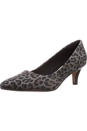 Clarks Damen Linvale Jerica Pumps, Mehrfarbig (Leopard PRT Comb Leopard PRT Comb)