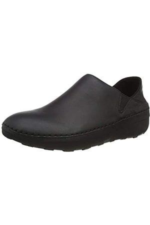 FitFlop Damen SUPER Loafer-Leather Slipper, (Black)