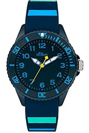 s.Oliver S.Oliver Unisex Analog Quarz Uhr mit Silicone Armband SO-4005-PQ