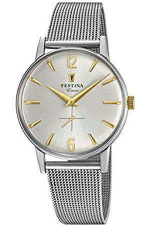 Festina Festina Herren Analog Quarz Uhr mit Edelstahl Armband F20252/2