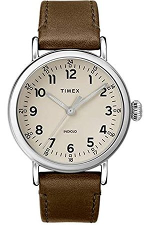 Timex Timex Herren Analoger Quarz Uhr mit Echtes Leder Armband TW2T20100