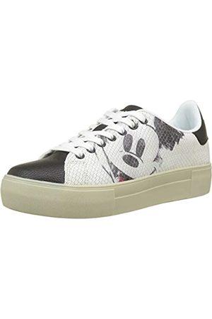 Desigual Damen Shoes_Star Mickey Sneaker, (Blanco 1000)