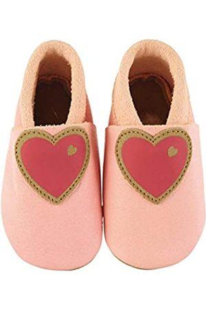 Sterntaler Sterntaler Mädchen Baby-Krabbelschuh Leder Flache Hausschuhe, Pink (Rosa 737)