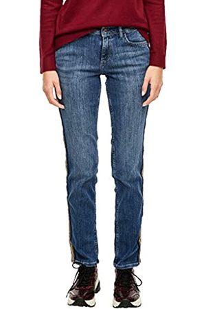 s.Oliver S.Oliver RED LABEL Damen Slim Fit: Slim leg-Denim mit Tape blue 34.30
